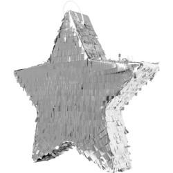 """Piñata """"Etoile argentée"""", pinata argentée, pinata étoile, anniversaire de stars, étoile argent"""