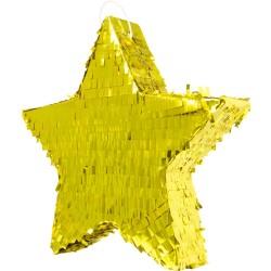 """Piñata """"Etoile dorée"""", pinata dorée, pinata étoile, anniversaire de stars, étoile or"""