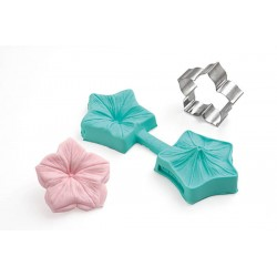 Kit fleur moule en silicone et emporte-pièce
