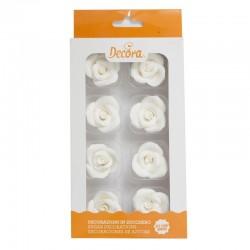 Roses blanches en sucre, rose blanches, décos gâteau, décos en sucre, vacherin glacé décos, rose blanches, rose en sucre