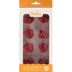 Roses rouge en sucre, rose rouge, décos gâteau, décos en sucre, vacherin glacé décos, rose rouge, rose en sucre