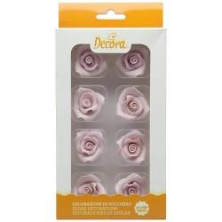 Roses rose pale en sucre, rose rose pale, décos gâteau, décos en sucre, vacherin glacé décos, rose rose, rose en sucre