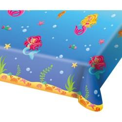 nappe sirènes, anniversair sirène, nappe des mers, décoration sirène,nappe en plastique sirène, nappe, anniversaire sirène,table