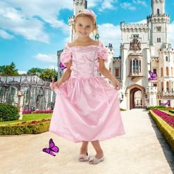Robe de princesse, robe rose, princesse, anniversaire princesse, robe légère princesse, déguisement princesse
