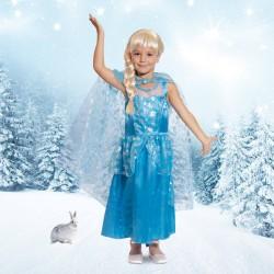 Robe reine des neiges, Robe de princesse, robe bleue, princesse, anniversaire princesse, robe légère princesse, déguisement prin