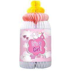 biberon décoration rose naissance baby showers biberon papier