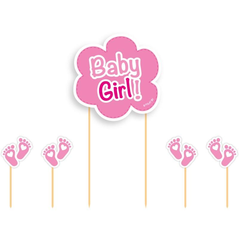 "Topper ""Baby boy"", décoration gar4on bleu topper baby showers naissance rose"