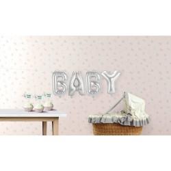 """Ballons argentés """"Baby"""" ballons décoration baby shower ballon argenté ballon décoration enfant bébé chambre anniversaire"""