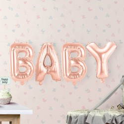 "Ballons roses ""Baby"" ballons décoration baby shower ballon rose ballon décoration enfant bébé chambre anniversaire"