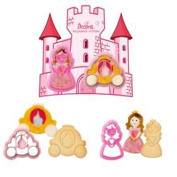 Emporte-pièces Princesses gâteau princesse carosse biscuits