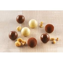 "Moule à chocolat ""Tartufino"", moule chocolat chocola boule chocolat moule truffes chocolat"