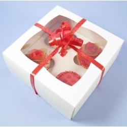 Boîte à cupcakes 4 cavités avec insert
