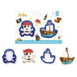 Emportes-pièces Pirates épée biscuits sablé anniversaire jack sparow enfant garçon fille décoration anniversaire pirate, tête d