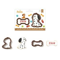 """Emportes-pièces """"Chien"""" biscuits sablés chien os chiot anniversaire chen fâte décoration"""