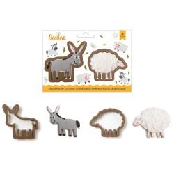 """Emportes-pièces """"Âne & mouton"""", biscuits moutons âne anniversaire ferme annimaux de la ferme"""