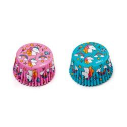 """Caissettes """"licorne"""" cupcakes licorne anniversaire madeleine caissettes papier anniversaire fille garçon rose bleue"""
