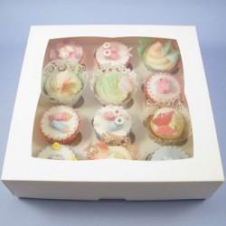 Boîte à cupcakes 12 cavités avec insert