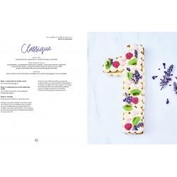"""Livre """"Number cakes"""" gâteau recette chiffre lettre number cake décoration gâteau génoise sablé crème vanille forêt noire"""