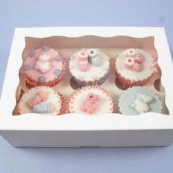 Boîte à cupcakes 6 cavités avec insert