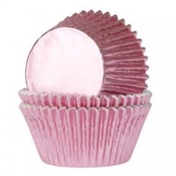 """Caissettes à mini cupcakes """"Rose bébé"""" caissette rose fille bébé cupcakes papier décoration gâteau fête anniversaire moule cupca"""