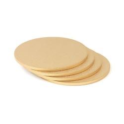Plateau Rond doré, plat gâteau doré sous plat doré palateu rond pâtisserie suports gâteau