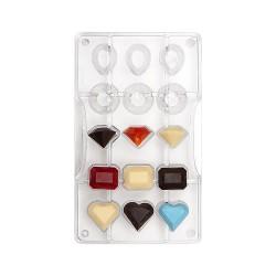 """Moule à chocolats """"Diamants"""", chocolat moule chic diaments pierre précieuse"""