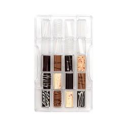 """Moule à chocolats """"fantaisie"""" moule chocolat bûches mini bûche chocolat"""