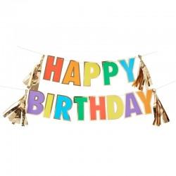 "Guirlande ""Happy Birthday"", anniversaire décoration joyeux anniversaire fête happy birthday"