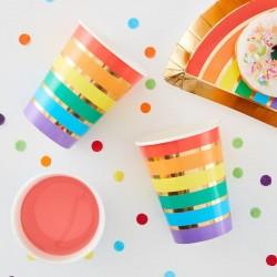 """Gobelets """"Arc-en-ciel"""" anniversaire arc-en-ciel décoration carton couverts anniversaire fête"""