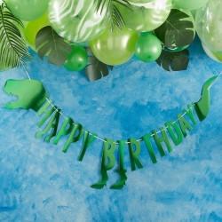"""Guirlande """"Dino"""" dinausore guiralnde anniversaire décoration fête garçon dino vert joyeux anniversaire happy bithday"""