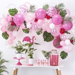 Arche de ballons roses, décoration anniversaire fête ballons rose blanc arche mariage