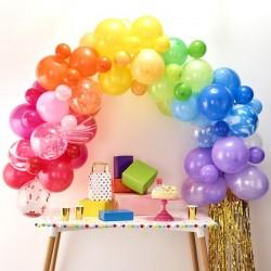 Arche de ballons arc-en-ciel, décoration anniversaire fête ballons arc en ciel arche mariage