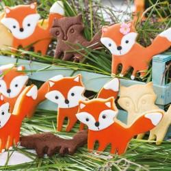 Découpoir renard, emporte-pièce renard, gâteau renard, joli renard, renard pâte à sucre, biscuits forme renard