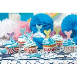 """Décoration en sucre """"sirène"""", décoration gâteau sirène, décoration comestible queue de sirène, gâteau sirène, queue de sirène, s"""