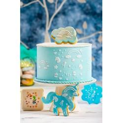 Pochoir Licorne gâteau décoration fête anniversaire enfant feérique licorne