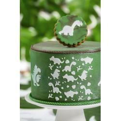 Pochoir Dino décoration anniversaire fête enfant gâteau dinosaure