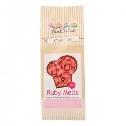 Chocolat Ruby à fondre décoration gâteau chocolat à fondre rose