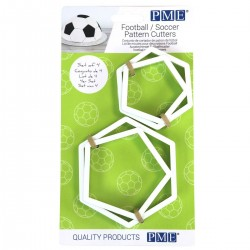 Emporte-pièce football sport décoration gâteau octgone ballon