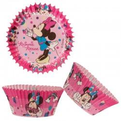 Caissettes cupcakes Minnie disney rose anniversaire fête caissettes papier