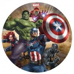 """Disque en sucre """"Avengers"""" gâteau fête anniversaire super héros décoration garçons"""