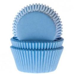 """Caissettes à mini cupcakes """"Bleu bébé"""" décoration bleu cupcake gâteau fête anniversaire baby shower garçon"""