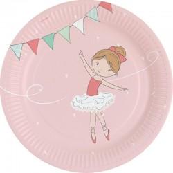"""Assiettes """"Ballerine"""" anniversaire fille fête ballerine dance danseuse assiettes en carton décoration couverts"""