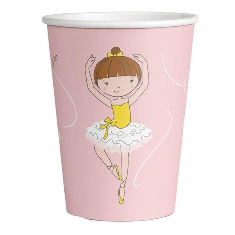 """Assiettes """"Ballerine"""" anniversaire fille fête ballerine dance danseuse assiettes en carton déacoration couverts"""