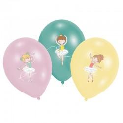 """Ballons """"Ballerine"""", danseuse danse fille anniversaire fête décoration tutu fille chaussons ballerines rose vert jaune"""