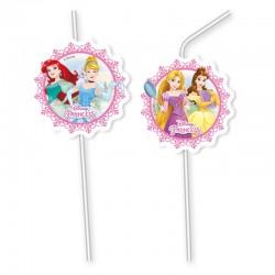 """Pailles """"Princesses"""", décoration anniversaire enchanté fille fête princesse cendrillon ariel raipnce belle"""