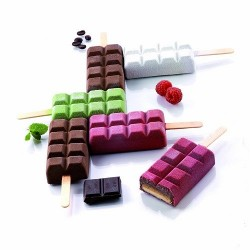 """Moule à glaces """"Chocostick"""" sorbet grand honctueux forme tablettes chocolat glace originale"""