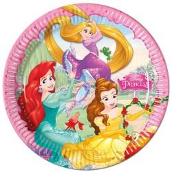 """Assiettes """"Princesse"""" anniversaire fête princesse fille table couvert cartonnées raiponce ariel belle"""