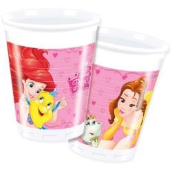 """gobelet """"Princesse"""" anniversaire fête princesse fille table couvert plastique raiponce ariel belle verre"""