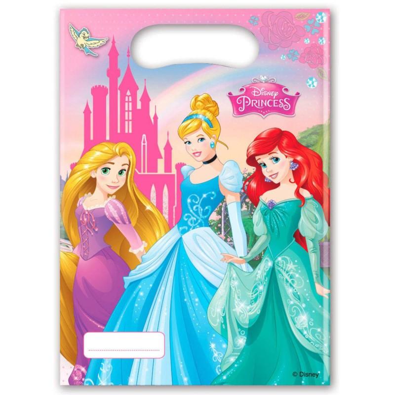 """Sachets party """"Princesse"""" bonbons princesses raiponce cendrillon ariel fête anniversaire fille féérique"""
