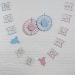 """Guirlande """"Baby shower"""" bébé baby shower fête décorations neutre fille et garçon fanions"""